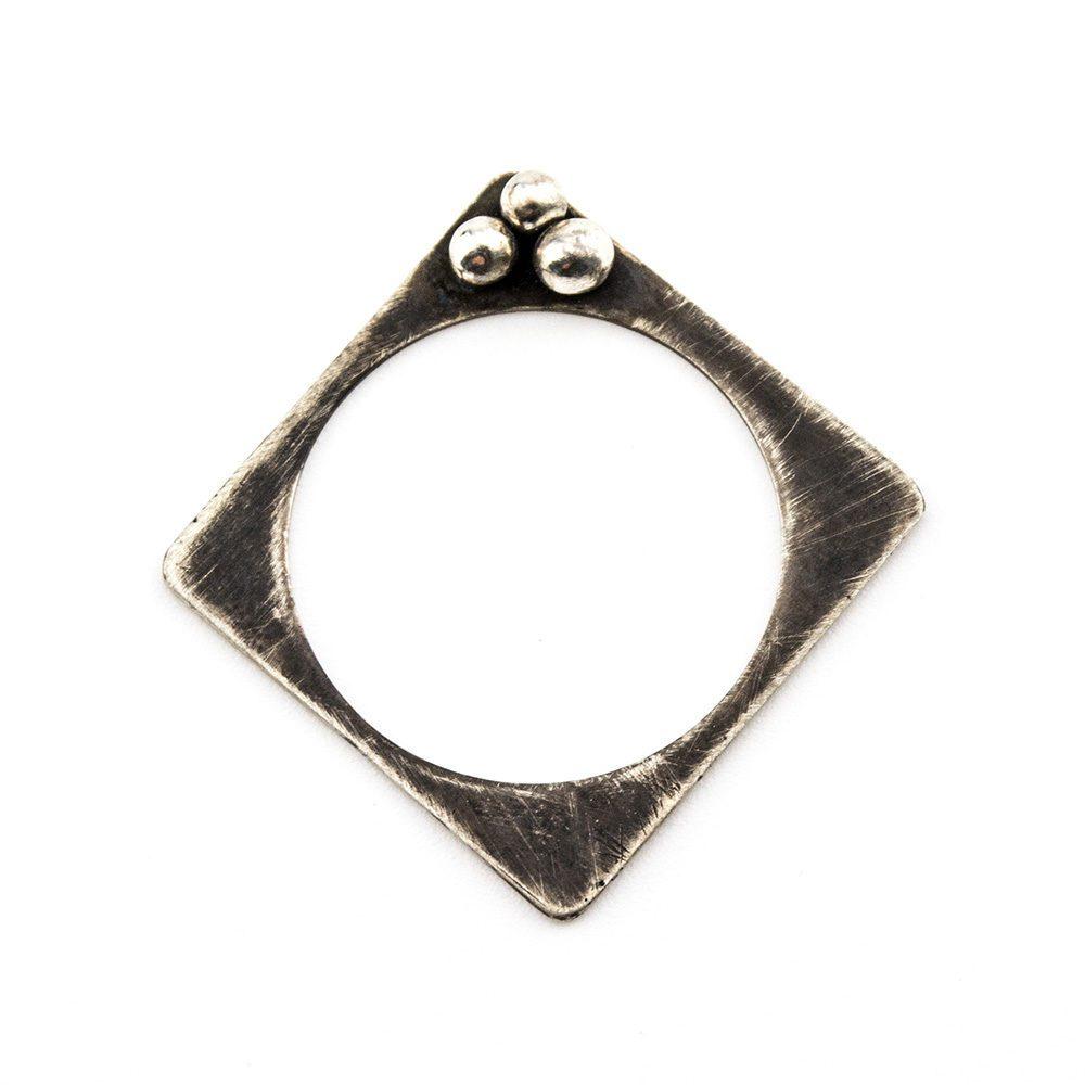 prsten od srebra kvadrat
