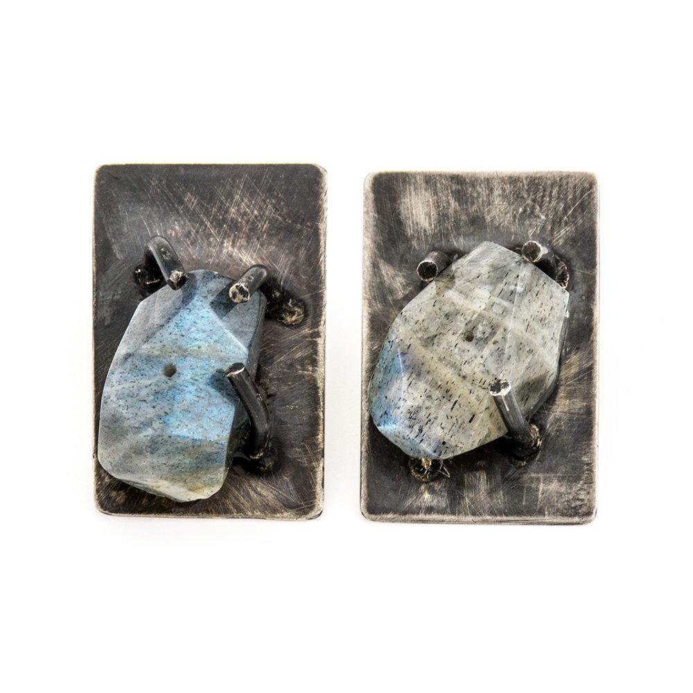 naušnice od srebra s labradoritom