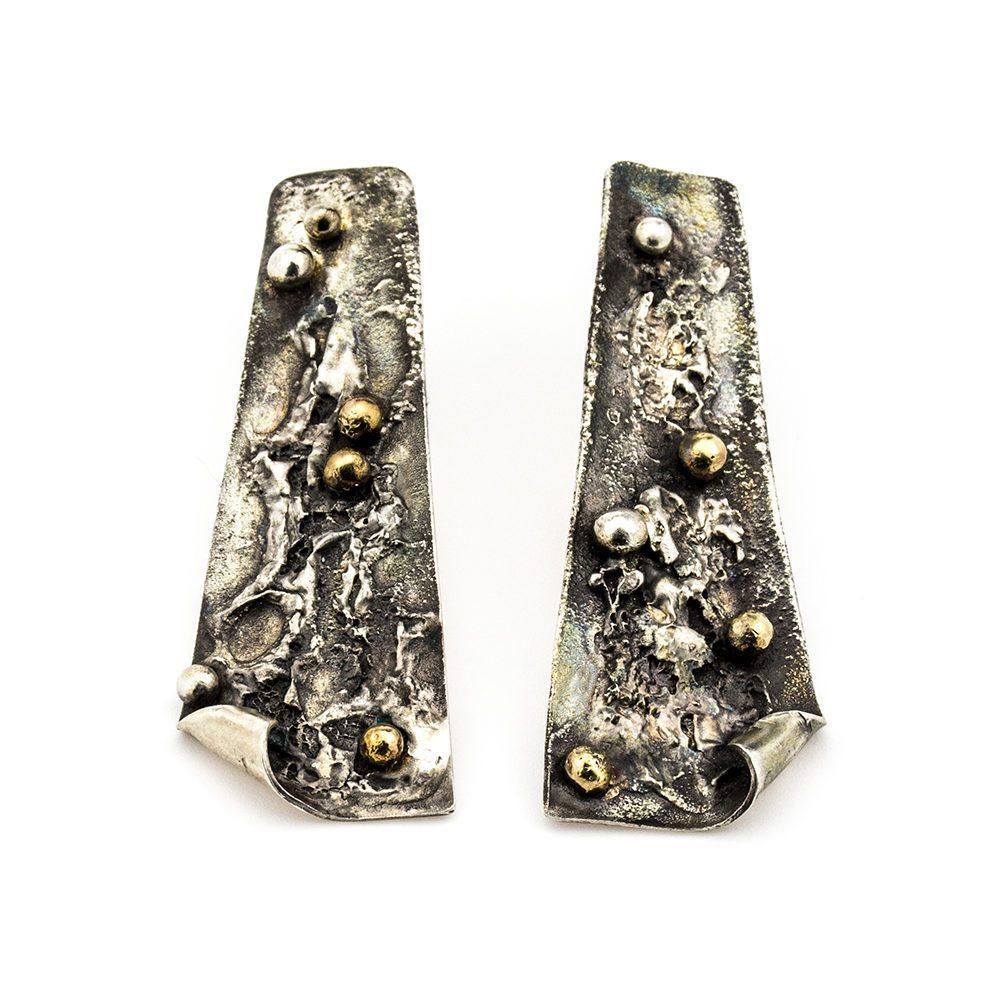 naušnice od srebra i mesinga paldar