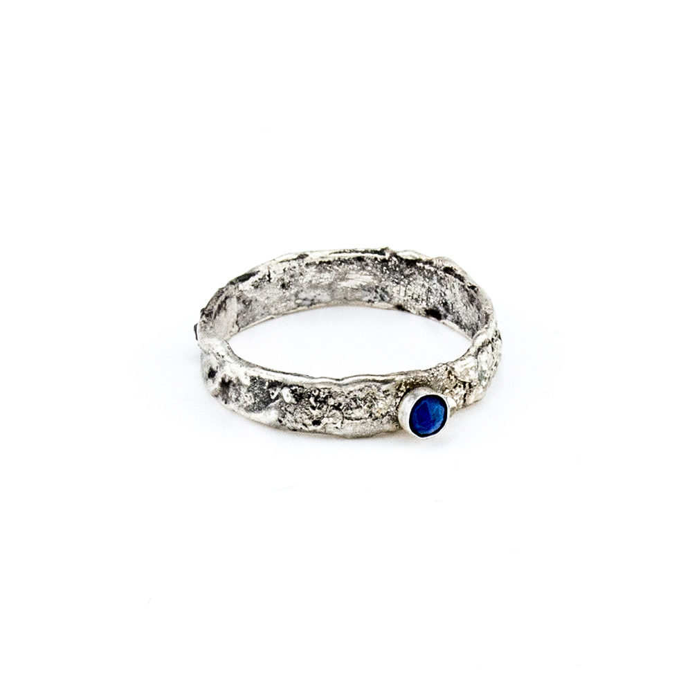 srebrni prsten lapis lazuli