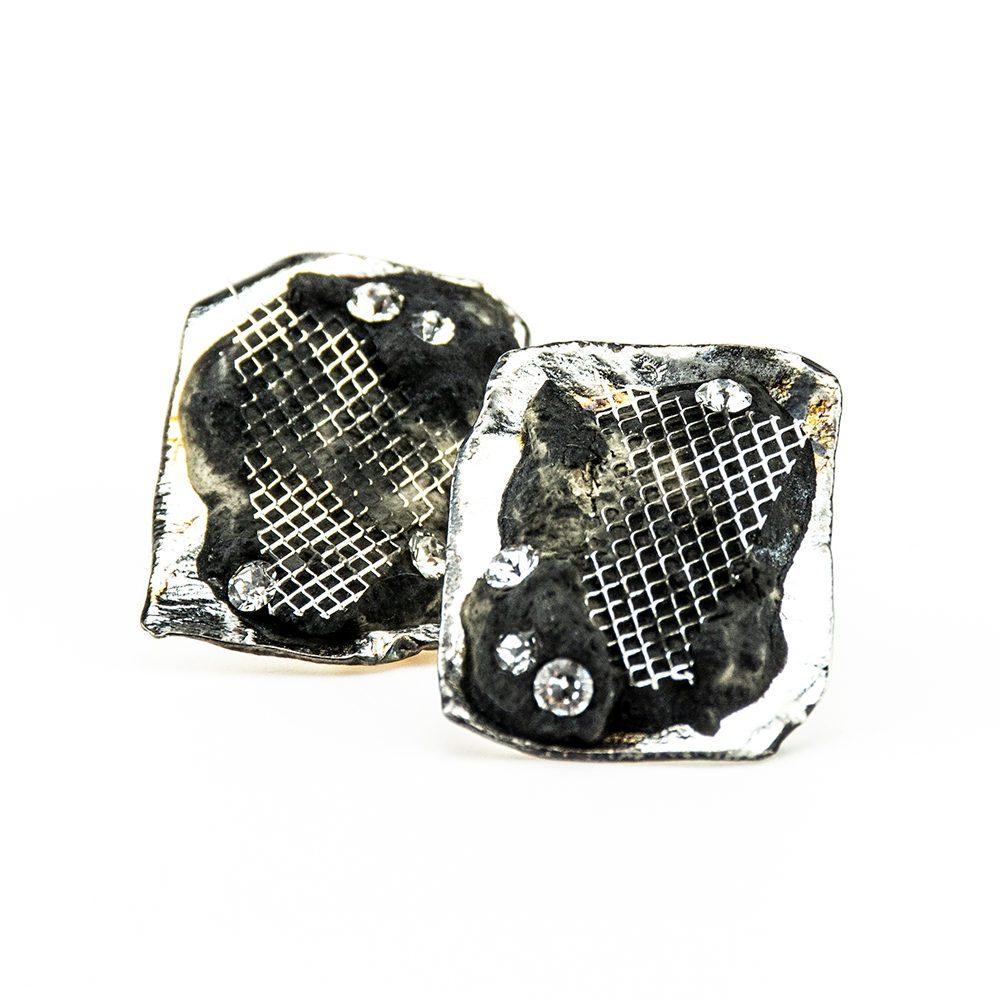 čisto srebro i swarovski kristal naušnice