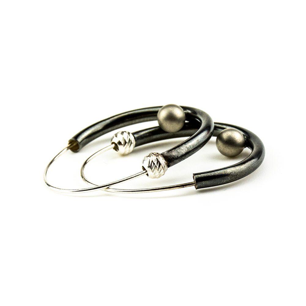 primorske naušnice sa srebrnom perlom