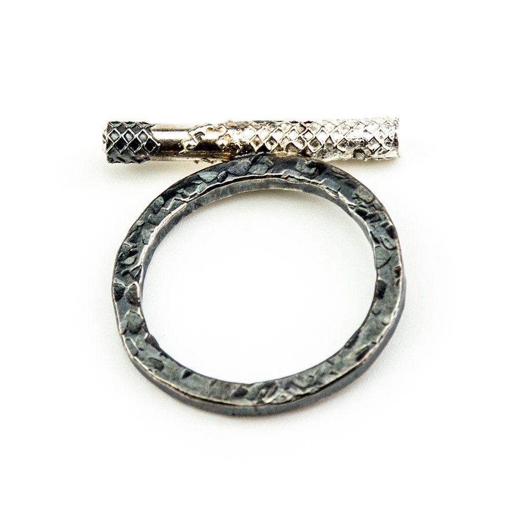 srebrni prsten, cijen, swarovski