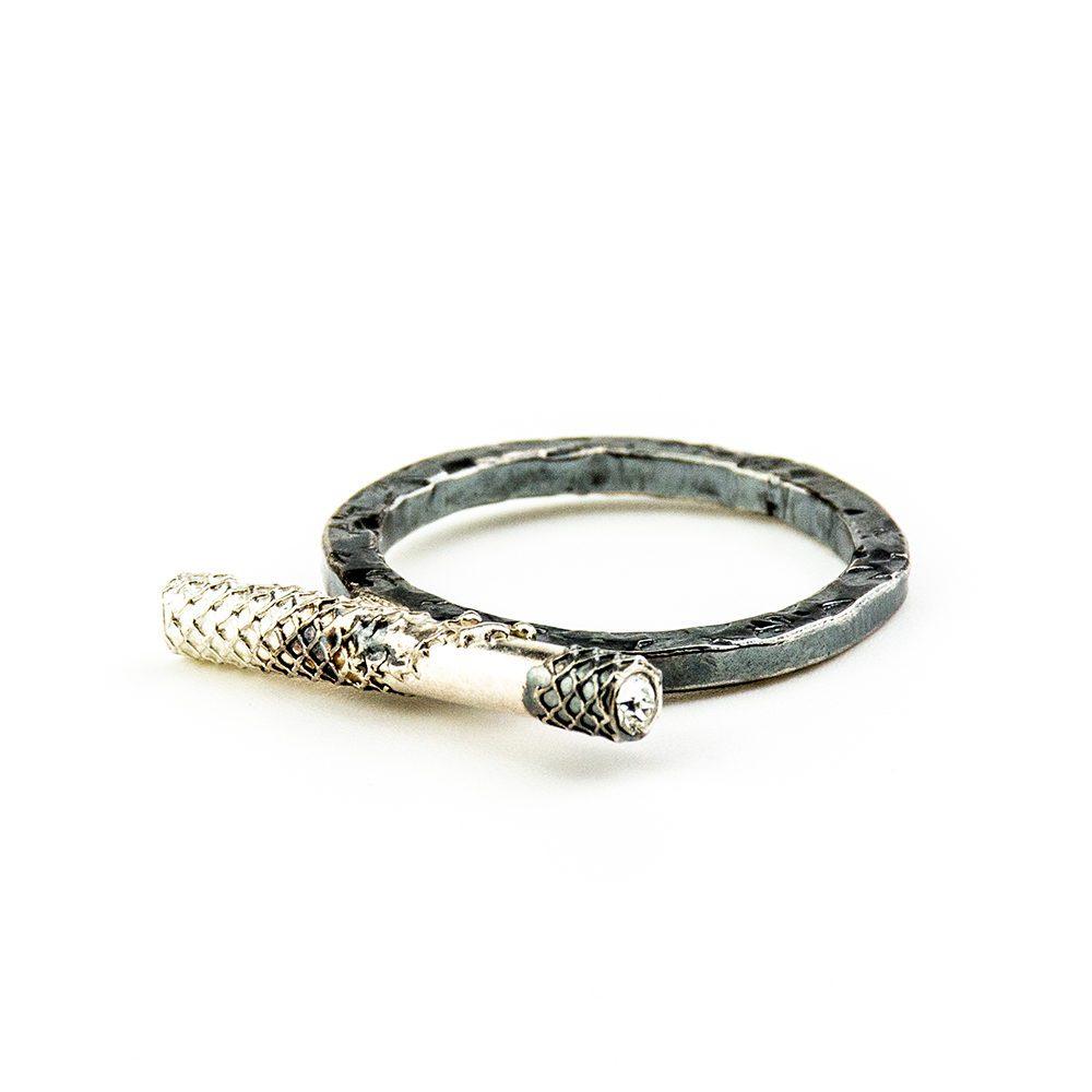 srebrni prsten ručni rad