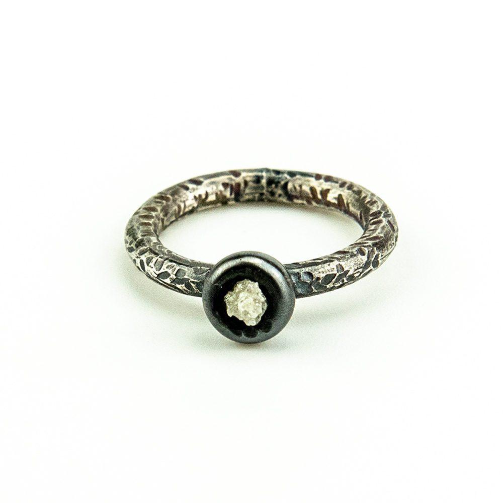 prsten srebro i dijamant