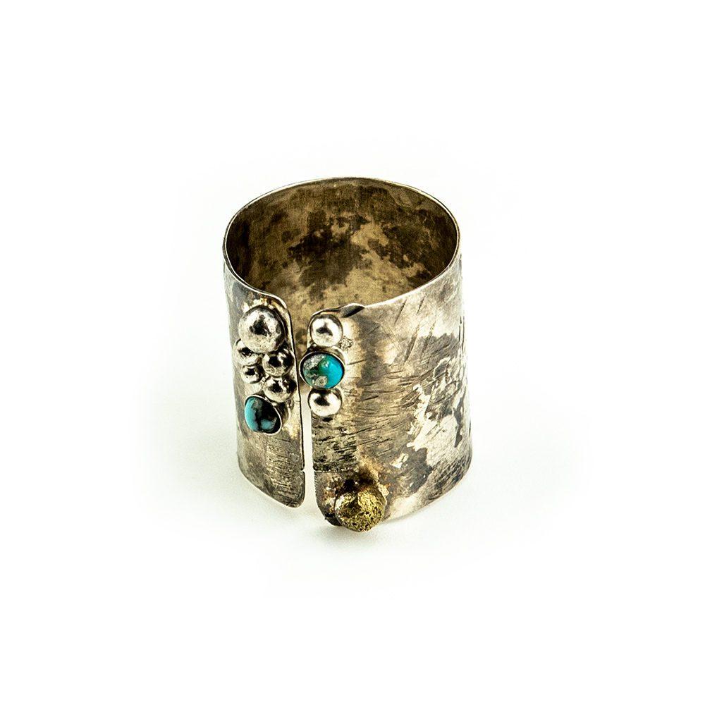 Prsten od srebra valjak