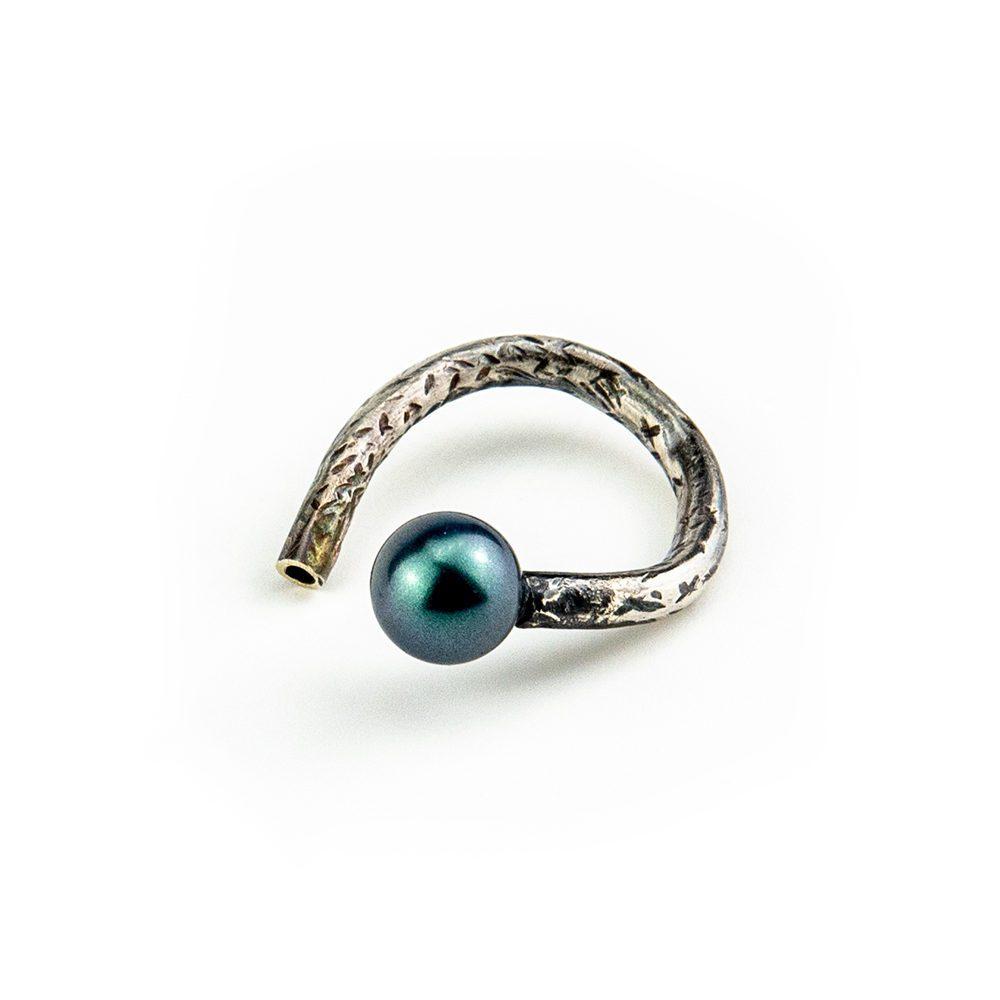 podesivi prsten swarovski i perla