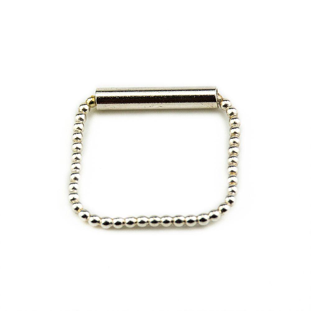 prsten od srebra kuglice