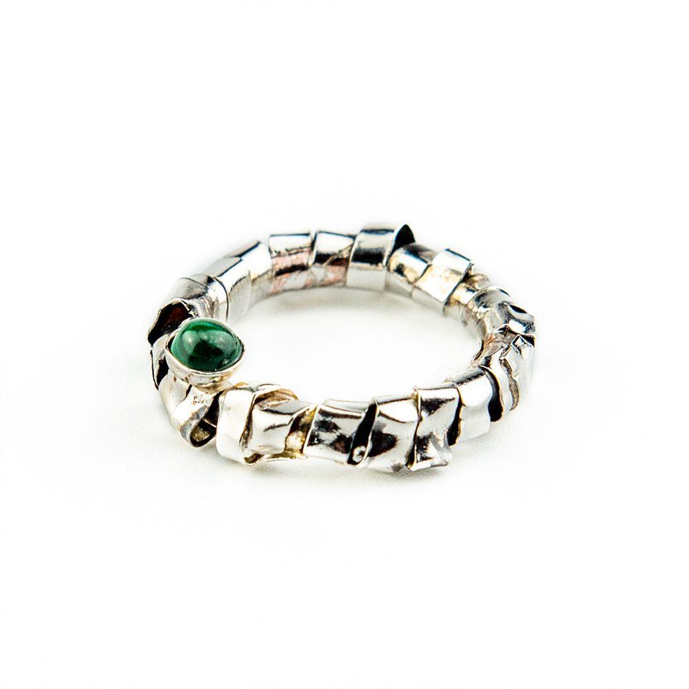 Prsten omotano srebro i bakar