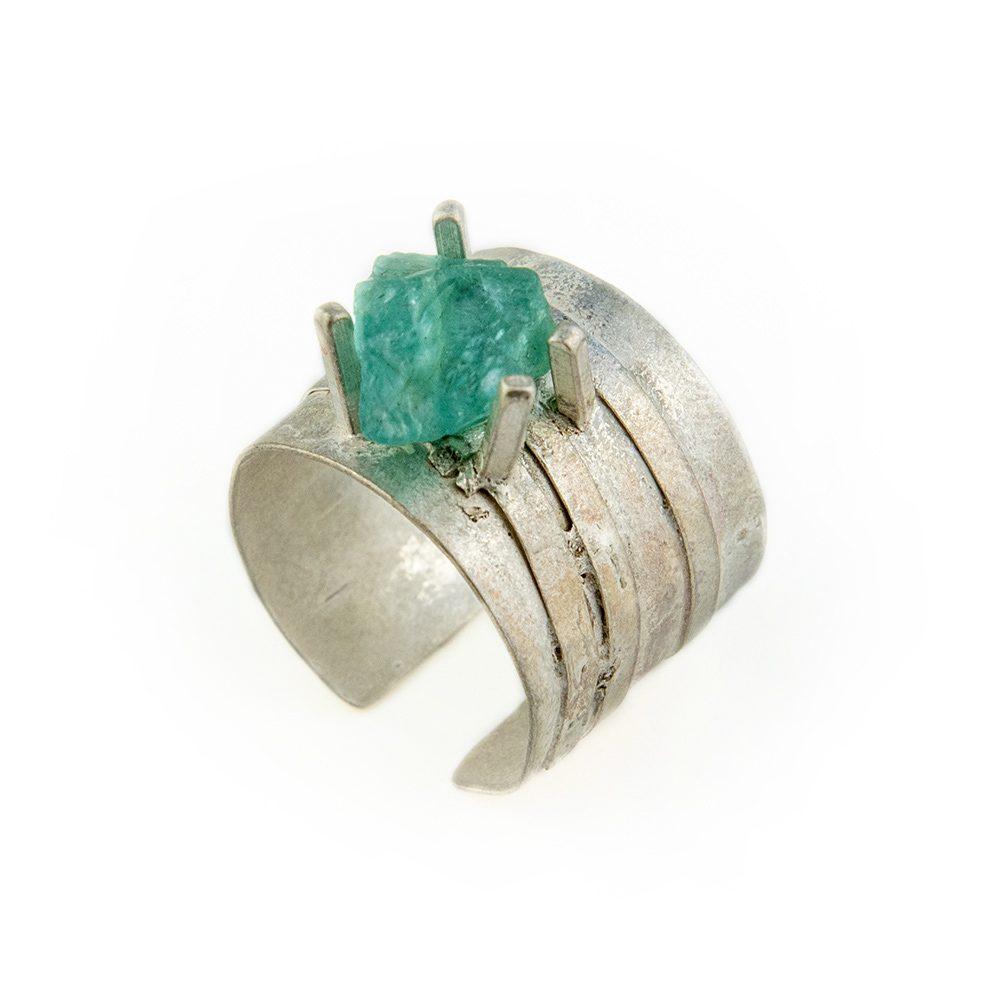 akvamarin prsten od srebra