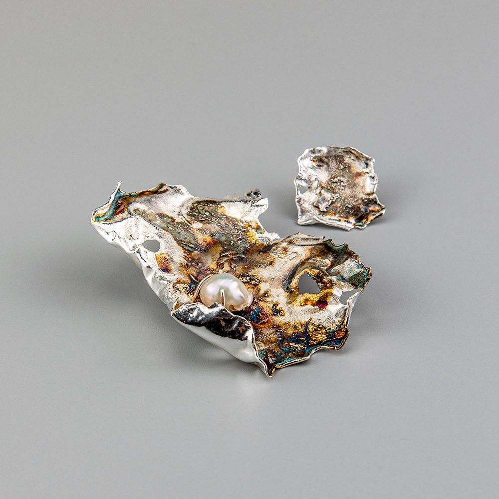 Unikatne naušnice srebro i biser
