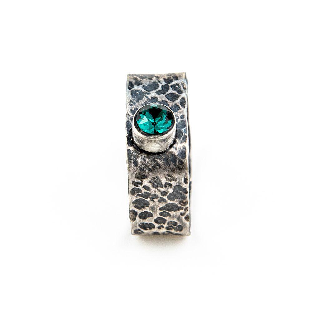 Srebrni prsten četvrtasti swarovski