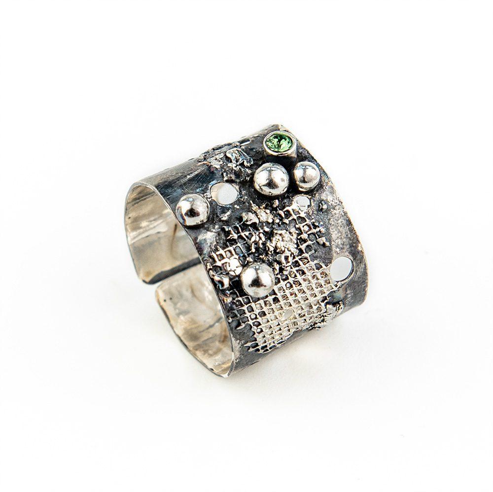 Swarovski prsten čisto srebro