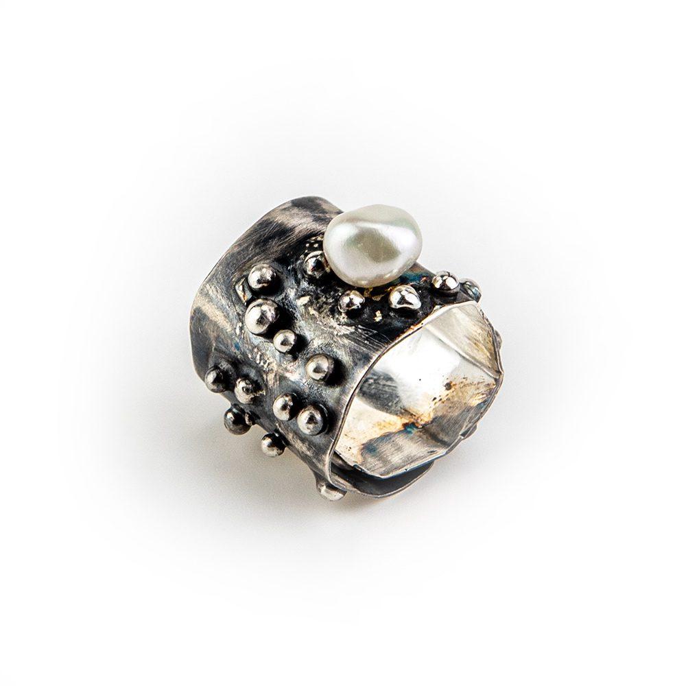 Podesivi srebrni prsten ručni rad