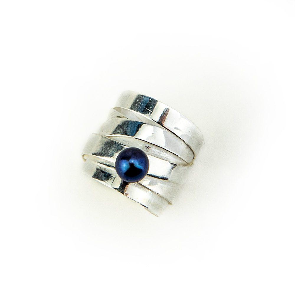 Trakasti unikatni prsten od srebra