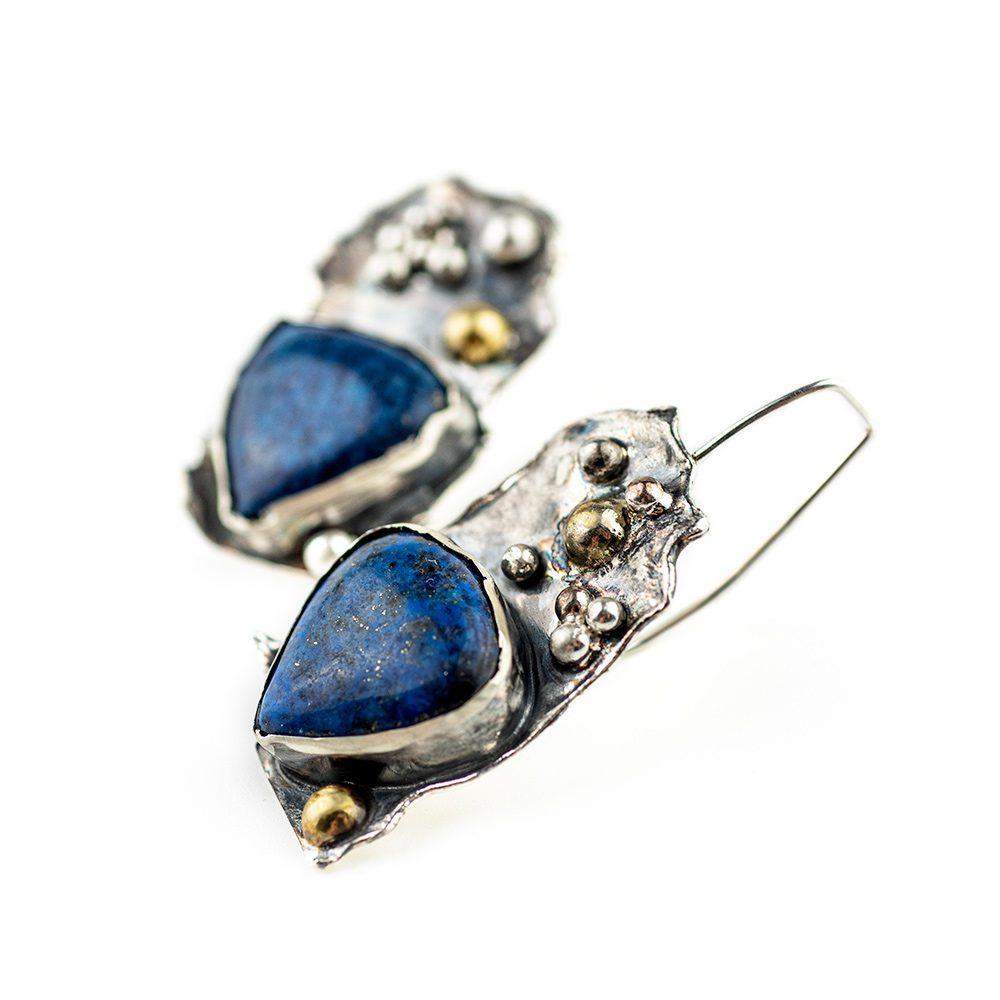 Naušnice ručni rad Lapis Lazuli