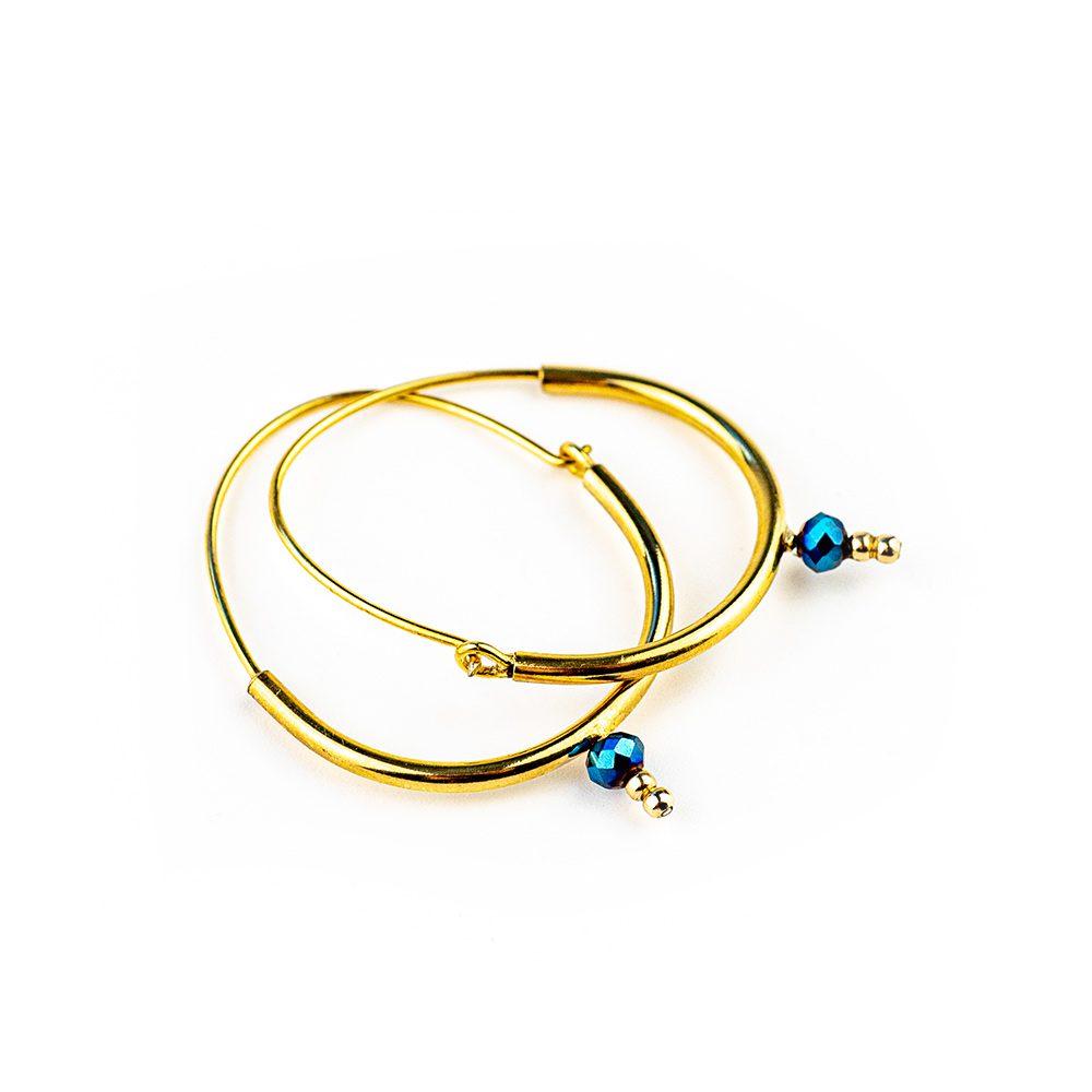 mini verižice plavi hematit